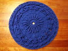 Salinger Pattern  Accent crochet pet rug by TheWellReadCat on Etsy, $60.00