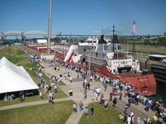 Get up close and personal with Lake Freighters this Engineers Day. Visitors are able to walk out across the walls of the Soo Locks and explore the historic buildings, annually, the last Friday in June, in Sault Ste. Marie, MI.