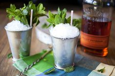 It is Derby Day, so while my feelings regarding horse racing are mixed, I am all about mint julep cups! Classic Mint Julep Recipe, Mint Simple Syrup, How To Cook Everything, Mint Recipes, Derby Day, Cocktail Recipes, Cocktails, Sugar And Spice, Food 52