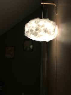 DIY cloud lamp to bring sweet dreams to a baby