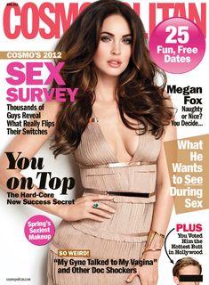 Megan Fox on the cover of Cosmopolitan