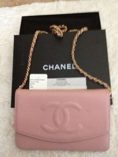 Chanel Wallet Purse On The Chain Pink /wallet On A Chain Cross Body Bag $613