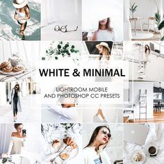 White And Minimal Lightroom Presets are absolutely perfect for high-end fashion and stylish quality look of your.