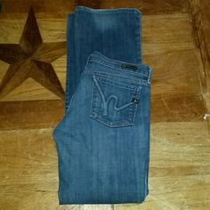 Citizens of Humanity jeans Low waist bootcut dark wash denim. These jeans are in great condition. I purchased them from a fellow posher, but they were too small for me. I need jeans so, these need to go. Cheaper on Ⓜercari Citizens of Humanity Jeans Boot Cut