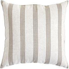 Malton Woven Stripe Pillow - Natural