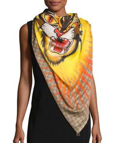 7fa89aacece 17 beste afbeeldingen van Gucci katten - Gucci scarf, Cat prints en ...
