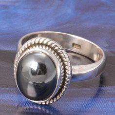 HOT SELL 925 STERLING SILVER HEMATITE RING 4.94g DJR4836 #Handmade #Ring