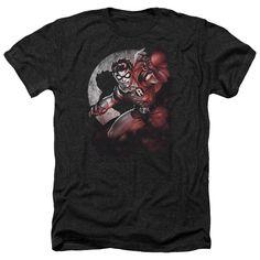 Batman/Robin Spotlight Adult Heather T-Shirt in