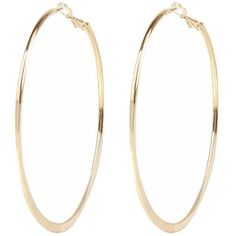 River Island Gold tone medium flat bottom hoop earrings (€5,69) ❤ liked on Polyvore featuring jewelry, earrings, accessories, brincos, hoop earrings, river island, gold tone earrings, earring jewelry and flat hoop earrings