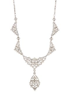 Verdura Victorian Filigree Crystal Statement Necklace by Nina Jewelry on @nordstrom_rack