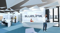 bleuelink - concept interieor design - entrance area - reception desk