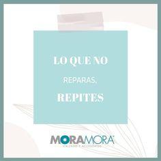 """MoraMora en Instagram: """"Lo que no reparas, repites. . . #moramora #tendencias #moda #tiendaenlinea #onlineshop #tiendavirtual #primavera2021 #onlineshopping…"""" Personal Care, Instagram, Frases, Thoughts, Trends, Self Care, Personal Hygiene"""
