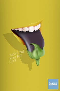 Casper&Gambini's: Eggplant Taste the healthy life. Clever Advertising, Advertising Design, Advertising Agency, Pop Art, Chicken And Cow, Ad Of The World, Digital Campaign, Art Optical, Best Ads