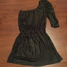 ZARA Raf Duc Evening Collection Studded Dress ZARA Faf Duc Evening Collection One Shoulder Mini Studded Dress. Worn Once, Flawless Condition! Size Euro M (Fits like a true small). No Trades. Zara Dresses One Shoulder