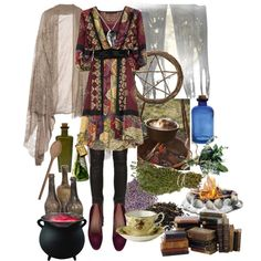 """Kitchen Witch"" by morbid-octobur on Polyvore - Love this for summer, when I wear a wee bit less black HL x"