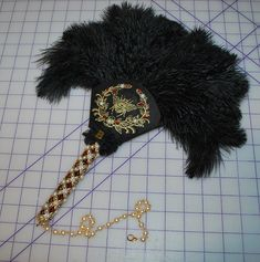 Starlight Masquerade | Renaissance feather fan with beaded handle