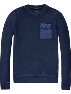 Washed Pullover | Pullovers | Men Clothing at Scotch & Soda