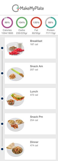 another great day with the 1800 meal plan in the makemyplate app
