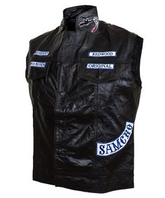 Son Of Anarchy Leather Vest For Men's   Leather Jacket US http://leatherjacketus.com/product/son-of-anarchy-leather-vest-for-mens/