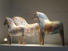 The exhibition of Dala horses in Dalarnas Museum in Falun by Feltangel, via Flickr
