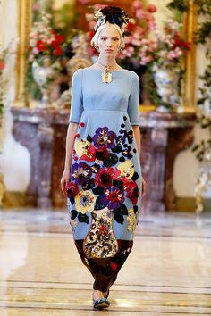 Sasha Luss at Dolce & Gabbana Alta Moda Spring/Summer 2014.