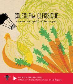 COLESLAW : Du chou , des carottes, un oignon... La vraie recette américaine de Coleslaw révélée par Carrie Solomon dans ON VA DEGUSTER sur France Inter - RECETTE ICI : http://www.franceinter.fr/emission-on-va-deguster-happy-thanksgiving