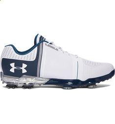 Mens Spieth One Spiked Golf Shoe- White/Navy @ Golf Town Online