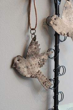Rusty Bird Decoration