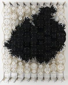 'Quietly Sleeping Eventual Implosions' by NY-based artist Jacob Hashimoto via drifting draftsman Kids Crafts, Arts And Crafts, Textile Fiber Art, Textile Texture, Atelier D Art, Textiles, Oeuvre D'art, Installation Art, Art Forms