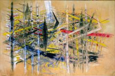 Wifredo Lam, Untitled (La Brousse), 1958, mixed media on paper pasted on canvas.
