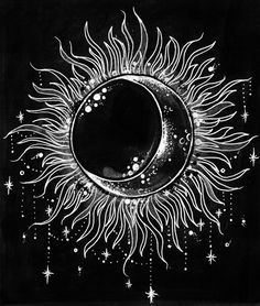 29 Ideas For Sun And Moon Tattoo Designs Hippie Moon Sun Tattoo, Sun Tattoos, Sun Moon, Body Art Tattoos, Sun And Moon Drawings, Sun Drawing, Moon Tattoo Designs, Sun And Stars, Black Paper