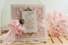 Cardmaking Ideas by Becca Feeken using Quietfire Design Hope is the Thing and Spellbinders Oval Regalia - www.amazingpapergrace.com