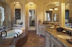 Bathroom Idea With Antique Vanities And Bathtub Picture