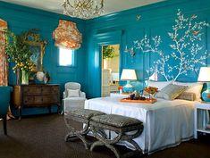 30 Frische Farbideen Für Wandfarbe In Türkis. Türkis BettSchlafzimmer FarbenWandfarbeKinderzimmerInneneinrichtungZuhauseWohnenRaumgestaltungBlaugrüne  Wände