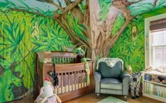 forest bedroom -- kids bedroom decorating ideas