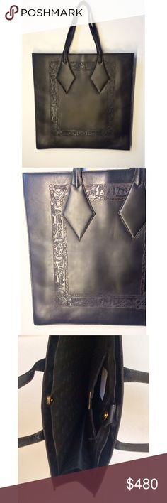 Vivienne Westwood Leather Tote Vivienne Westwood tote   designer: Vivienne Westwood material: leather color: deep brown size(inch): 15.75x 15.75 x 4.5 origin: Italy condition: excellent collection: FW 1998  Vivienne Westwood Bags Totes