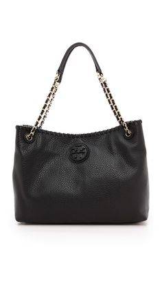 Tory Burch Marion Small Slouchy Tote (Black $495)