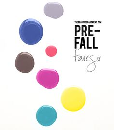 pre-fall 2012 nail polish faves
