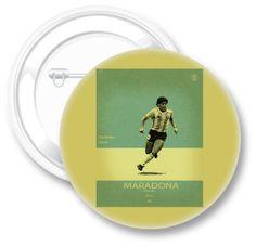 Chapa Qustommize Maradona | Chapas personalizadas | Fútbol