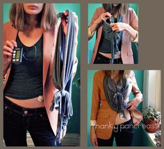 This scarf has a special sewn-in pocket made to hold your insulin pump. Simply slide the pump in the pocket and place where you normally wear it, in the bra or side of the pants. Or just let it hang in the scarf. It can be worn around the neck and can stretch around the average waist! Easy to dress up or down.