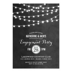 Shopping Summer String Lights Engagement Party Invitation We provide you all shopping site and all informations in our go to store link. You will see low prices on
