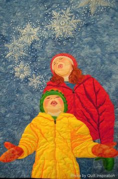 Close up, First Snow by Susan Brubaker Knapp.  2013 Houston IQF, photo by Quilt Inspiration