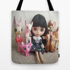 snowwhite Tote Bag by Vintage  Cuteness - $22.00#blythe #doll #deer #fawn #kitsch #pink #elephant #childrens #kawaii #girly #tote #bag #fashion