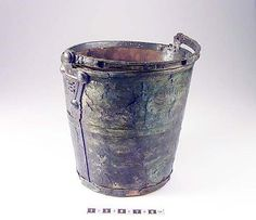 Bucket from Birka grave 507, viking era, Sweden. There are 25 more pics of the bucket, with closeups on the beautiful ornaments.