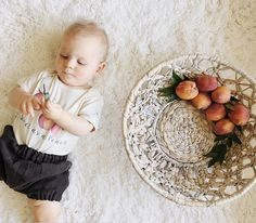 Brown Linen Bloomers Linen Bubble Shorts Baby by moonroomkids