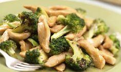 Dušené kuřecí nudličky s brokolicí