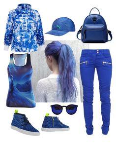 """MATCHY  MATCHY  THAT BASEBALL  HAT"" by carolsha on Polyvore featuring Puma, P448, Helmut Lang, Balmain, Chicnova Fashion, baseballcap and baseballhats"