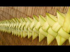 Coconut tree leaf making design - YouTube