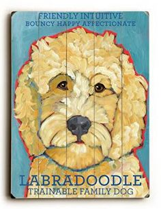 Labradoodle Wood Sign