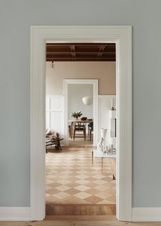 Little Pink House: A Creative Couple's Classic-with-a-Twist Home in Denmark - Remodelista Denmark House, Style Me Pretty Living, Victorian Tiles, Unique Flooring, Aalborg, Dining Nook, Pink Houses, Bathroom Layout, Nordic Design